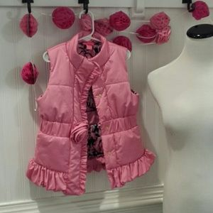 Girls Lilly Pulitzer Pink Puffer Vest